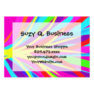 Vivid Colorful Paint Brush Strokes Girly Art Large Business Card