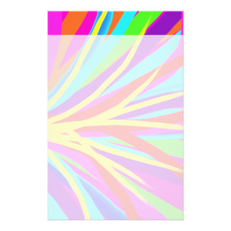 Vivid Colorful Paint Brush Strokes Girly Art Stationery