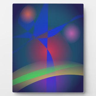 Vivid Colors against Moderate Dark Background Plaques