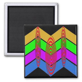 Vivid Colors and Swirls Magnet