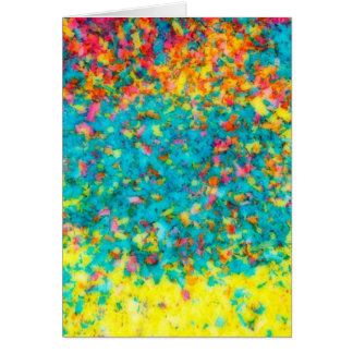 Vivid colours abstract card