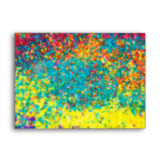 Vivid colours abstract envelope