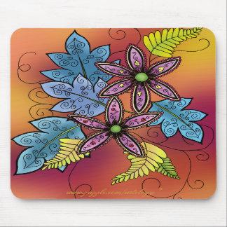 Vivid Flora Mouse Pad