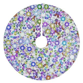 Vivid floral pattern 4181B Fleece Tree Skirt