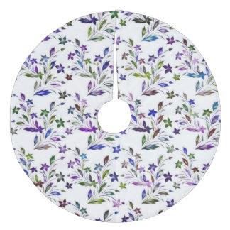 Vivid floral pattern 4182A Fleece Tree Skirt