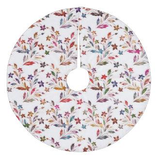 Vivid floral pattern 4182B Fleece Tree Skirt