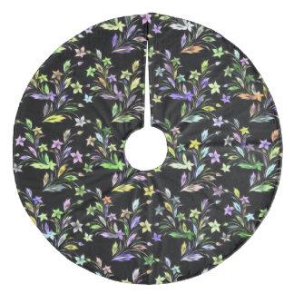 Vivid floral pattern 4182C Fleece Tree Skirt