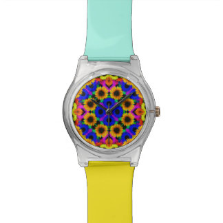 Vivid Floral Pattern Watch
