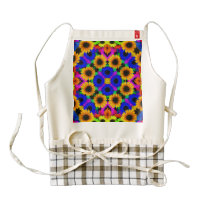 Vivid Floral Pattern Zazzle HEART Apron