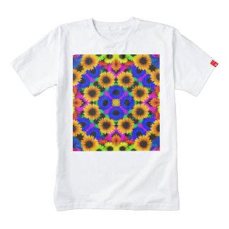 Vivid Floral Pattern Zazzle HEART T-Shirt