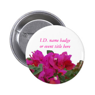 Vivid Flowers Name Badge 2 Inch Round Button