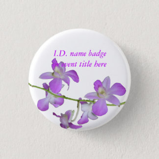 Vivid Flowers Name Badge Button