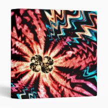 Vivid Fractal Vinyl Binder