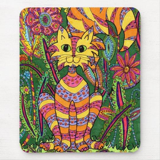 Vivid Garden Cat 2 Mouse Pad