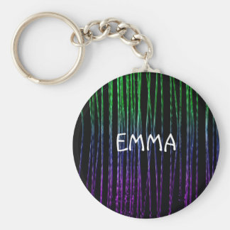 Vivid Glitter Ropes Keychain