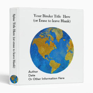 Vivid Globe Featuring the Americas Binders