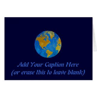 Vivid Globe Featuring the Americas Card