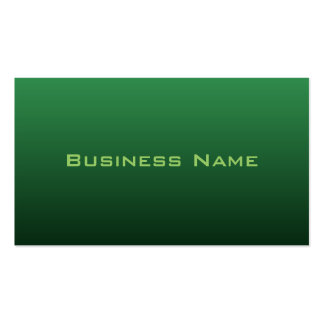 Vivid Green Business Card