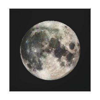 Vivid Image of the Moon Canvas Print