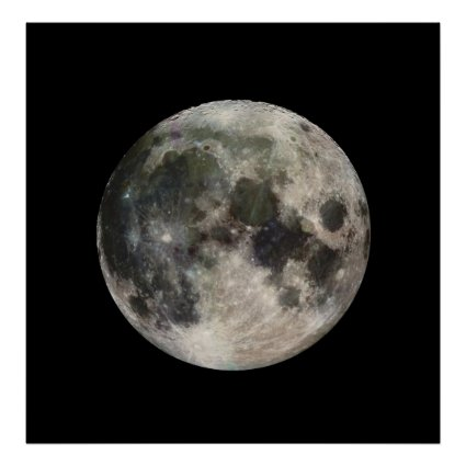 Vivid Image of the Moon Print