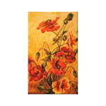 Vivid Late Victorian 1890 Oil Painting of Poppies Stretched Canvas Prints