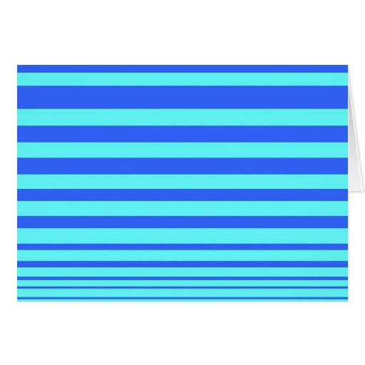Vivid Lines Note Card- Cobalt and Sky blue