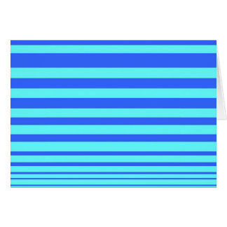 Vivid Lines Note Card- Cobalt and Sky blue Card