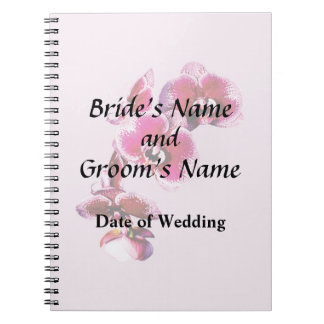 Vivid Maroon Phalaenopsis Orchids Wedding Products Notebook