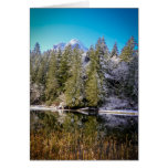 Vivid Mountain Lake Winter Landscape Photo Greeting Card