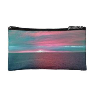 Vivid Ocean Sunset Bagettes Bag Makeup Bags