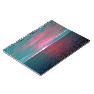 Vivid Ocean Sunset Notebook