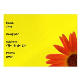 Vivid Orange and Yellow Gerbera Daisy Large Business Card