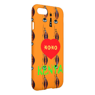 Vivid Orange Xoxo iPhone 7 Case