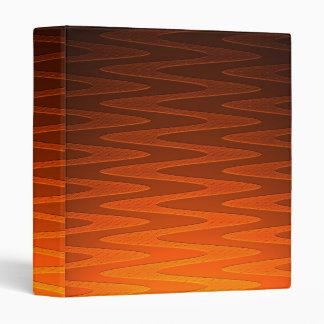 Vivid Orange Zigzag Modern Art 3 Ring Binders