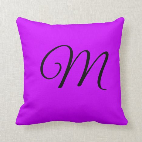 Vivid Orchid Throw Pillow