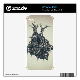 Vivid Owl's City graphic Skin For iPhone 4