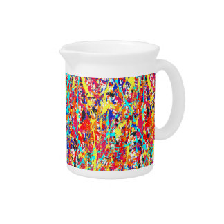 Vivid Paint Splatter Abstract Drink Pitchers