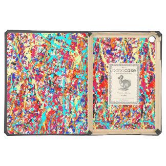 Vivid Paint Splatter Abstract iPad Air Cover