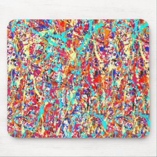 Vivid Paint Splatter Abstract Mouse Pad