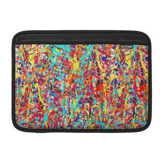 Vivid Paint Splatter Abstract Sleeve For MacBook Air