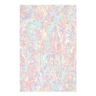 Vivid Paint Splatter Abstract Stationery