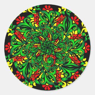 vivid pattern classic round sticker