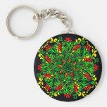 vivid pattern key chain