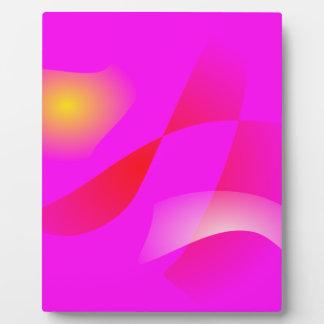 Vivid Pink Plaque