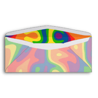 Vivid psychadelic rainbow business sized envelopes