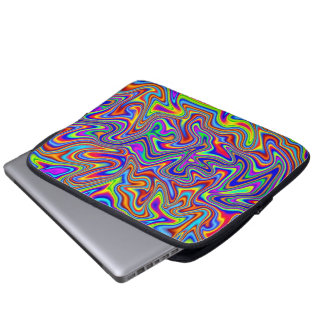 "Vivid Psychedelic Neoprene Laptop Sleeve 10""–14"""