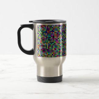 Vivid Rainbow Colors And Pastels Squares Pattern Mug