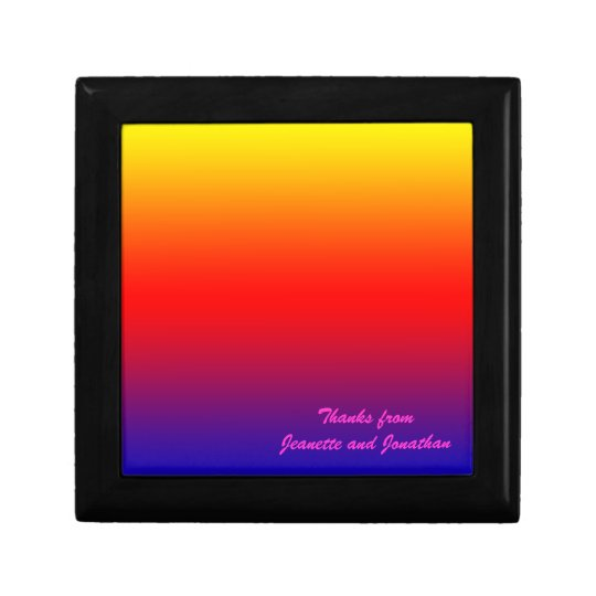 Vivid Rainbow Gift Box, Jewelry Box