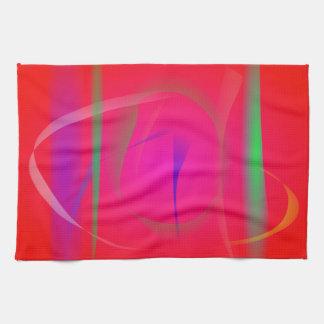 Vivid Red Abstract Bamboo Thicket Towel