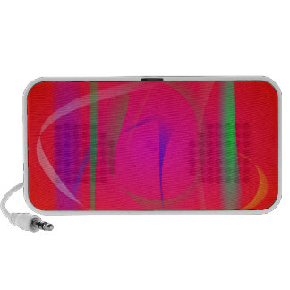 Vivid Red Abstract Bamboo Thicket Portable Speaker